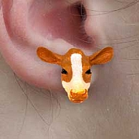 Guernsey Cow Earrings Post