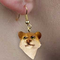 Lioness Earrings Hanging