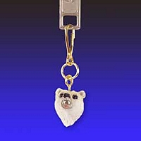 Bear Polar Zipper Charm