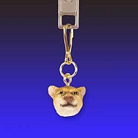 Cougar Zipper Charm