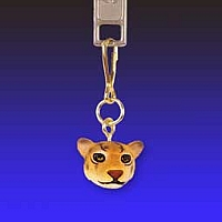 Jaguar Zipper Charm