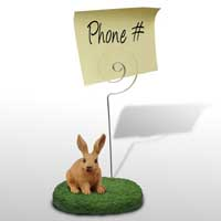 Rabbit Brown Memo Holder