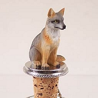 Fox Gray Bottle Stopper
