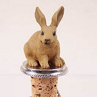 Rabbit Brown Bottle Stopper
