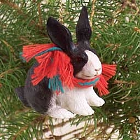 Rabbit Black & White Original Ornament