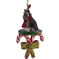 Schnauzer Gray Candy Cane Ornament