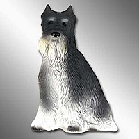 Schnauzer Gray Best Friends Magnet
