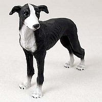 Greyhound Black & White Standard Figurine