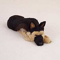 German Shepherd Tan & Black My Dog Fur Figurine
