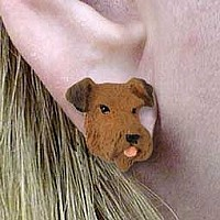 Airedale Earrings Post