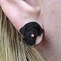 Portuguese Water Dog Earrings Post