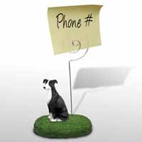 Greyhound Black & White Memo Holder