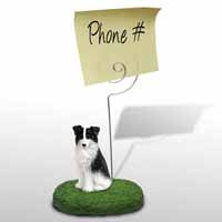 Border Collie Memo Holder