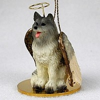 Keeshond Pet Angel Ornament