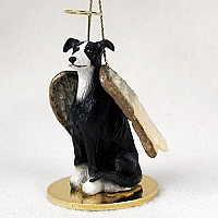 Greyhound Black & White Pet Angel Ornament