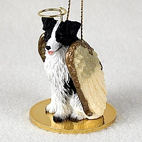 Border Collie Pet Angel Ornament