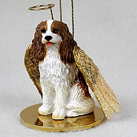 Cavalier King Charles Spaniel Brown & White Pet Angel Ornament