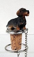 Wire Haired Dachshund Red Bottle Stopper