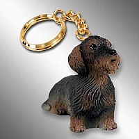 Wire Haired Dachshund Red Key Chain