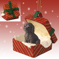 Labradoodle Chocolate Gift Box Red Ornament