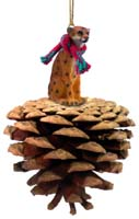 Cheetah Pinecone Pet Ornament