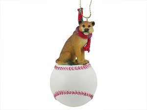 Lioness Baseball Ornament
