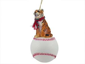 Tiger Baseball Ornament