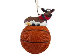 Guernsey Cow Basketball Ornament