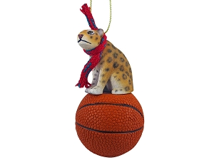 Jaguar Basketball Ornament