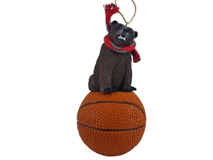 Bear Grizzly Basketball Ornament