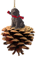 Labradoodle Chocolate Pinecone Pet Ornament