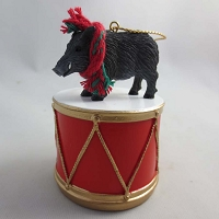 Razorback Hog Drum Ornament