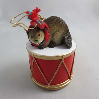Beaver Drum Ornament