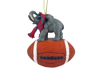 Elephant Football Ornament