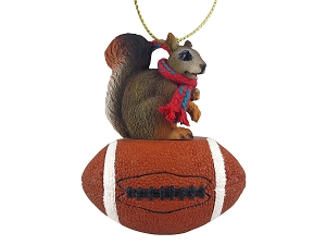 Squirrel Red Football Ornament