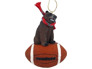 Bear Grizzly Football Ornament