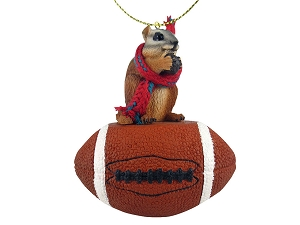 Chipmunk Football Ornament
