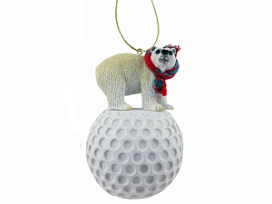 Bear Polar Golf Ornament