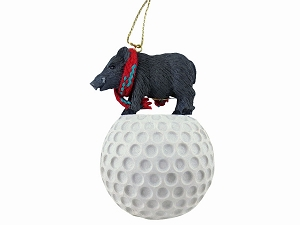 Razorback Hog Golf Ornament