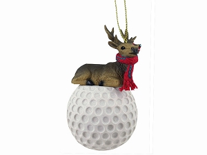 Elk Bull Golf Ornament