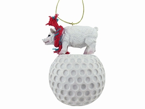 Pig Pink Golf Ornament