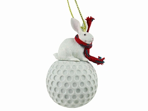 Rabbit White Golf Ornament