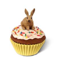 Rabbit Brown Cupcake Trinket Box