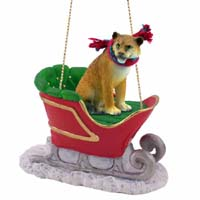 Lioness Sleigh Ride Ornament