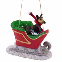 Okapi Sleigh Ride Ornament