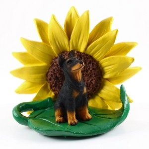 Doberman Pinscher Black  Sunflower Friend