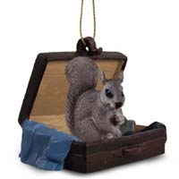 Squirrel Gray Traveling Companion Ornament