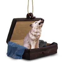 Wolf Gray Traveling Companion Ornament