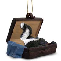 Skunk Traveling Companion Ornament