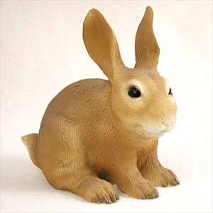 Rabbit Brown Standard Figurine